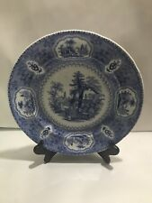 Antique PEARL Samuel Alcock Staffordshire Blue Transferware Dinner Plate #2
