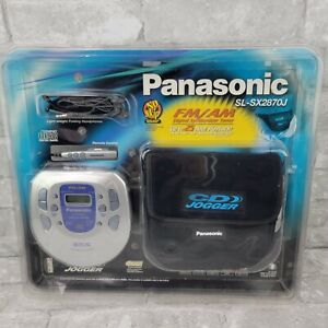 New Panasonic SL-SX287J Personal Jogger Portable CD Player + Case Remote Earbuds