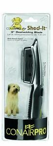 """Conair Pro DOG Shed-It 3"""" Deshedding Blade conairpro Grooming Tool NEW ~"""