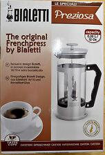 Bialetti Preziosa Frenchpress (Pressfilter) 3 Cups, New In Box Christmas Gift