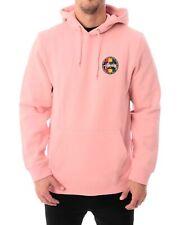 STUSSY Reggae Dot Men's Dusty Rose Hooddie Hooded Pull Over Sweatshirt Sz S $119