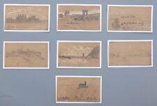 Rheinreise 1847,David Sutter,7 Zeichnungen,Koblenz,Worms,Andernach