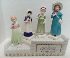 Royal Doulton Kate Greenaway 4 Figurines with Store Display Stand