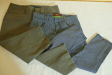 Women's Skinny Capris Size 6 Lot of 2 Navy White Stripe Army Green INC One 5 One