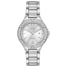 Citizen Eco-Drive Women's FE1160-54A Crystal Accents Silver-Tone 31mm Watch