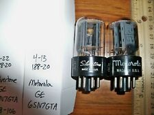 2 Strong Matched GE Gray Plate Side FAT D Getter 6SN7GTA Tubes #5
