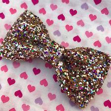Rainbow Glitter Hair Bow...Kawaii / Lolita / Cute