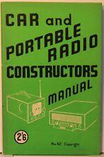 AUTO e radio portatile costruttori manuale - 56 PAGINE-Bernards Radio Books 62