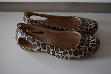 Crocs leopard print ballet flat VGUC women 5 brown shoe Kadee crocslite