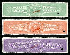 Honduras Stamps XF OG NH Specimen Set of 3