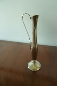 "Vintage SILVER PLATED BUD VASE 8.25""/ 21cm tall"