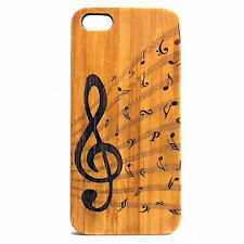 Treble Clef Case made for iPhone 7 Plus phones Eco-Friendly Bamboo Woo