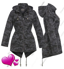 NEW RAIN MAC Ladies PARKA Shower Womens Outdoor RAINCOAT Size 8 10 12 14 16
