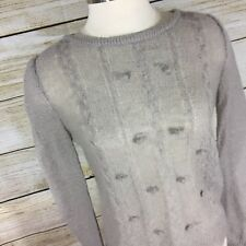 Pins & Needles Urban Outfitters Sweater Size M Gray Mohair Blend Sheer