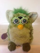 1998 Tiger Electronics Furby Green & Yellow - Blue Eyes - Tested Works # 70-800