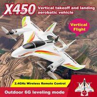 XK X450 6 CH Remote Control Vertical Takeoff Landing 3D Aerobatic RC Airplane US