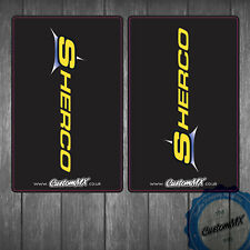 SHERCO SE 250 300 450 Black Upper Fork Graphics Stickers Decals