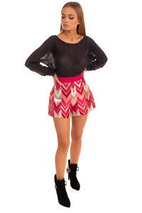 RRP €470 GIAMBATTISTA VALLI Brocade Shorts 42 / S Contrast Silk Made in Italy