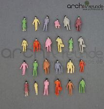 100 x Modèle Debout Assis Figurines Menschen Peint à la main 1:150 Piste N
