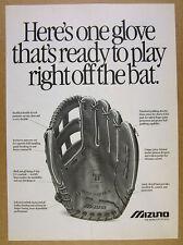 1989 Mizuno GOC7 World Win PRO Model Baseball Glove photo vintage print Ad