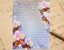 Flowers and Pearls Lined Stationery Writing Paper Set, 25 sheets & 10 envelopes