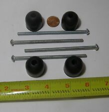 RUBBER FEET WITH LONG SCREWS...4 COUNT- SEE PICS FOR DETAILS. HARDWARE