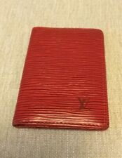 LOUIS VUITTON Epi Monogram Card Case ID Pocket Organizer Poche RED Leather