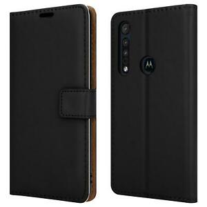 Premium Case For Motorola Moto One Macro Black Leather Wallet Stand Phone Cover