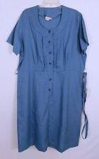 Vintage 1950s 50s Smartsetter Mini Plaid Belted Shirtwaisted Dress NOS XL