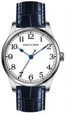 MARC & SONS Marine Automatic Men's Watch white blue,Miyota 9015,Sapphire MSM-005