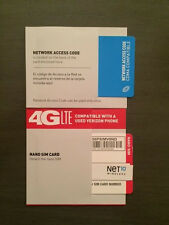1- NET10 VERIZON NANO SIM CARD - UNLIMITED SERVICE ON YOUR i5 i6 i7 FOR $35 MO.