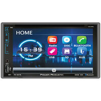 "NEW PD627B Power Acoustik D.DIN 6.2"" AM/FM/CD/DVD/BT with Capacitive Flat Glass"