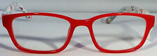 New! Foster Grant Simply Specs Holly Red 1.25 Reading Glasses W/Soft Case.