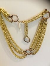 The Limited Gold Toned Three Strand Adjustable Chain Belt