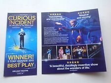 2x theatre flyer / handbill THE CURIOUS INCIDENT OF THE DOG  IN THE NIGHT TIME