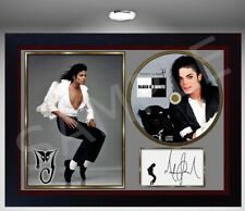 Music Memorabilia History MICHAEL JACKSON SIGNED FRAMED PHOTO CD Disc Perfect gift #1 Jackson, Michael