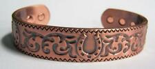 WESTERN HORSE SHOE SOLID COPPER  STRONG SIX MAGNETS unisex CUFF BRACELET horses