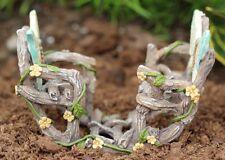 """* Double Butterfly Rocker *  Miniature Fairy Garden Dollhouse 3.25""""L x 2.25"""" H"""