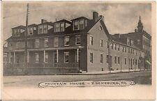 Mountain House in Ebensburg PA Postcard