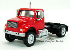 International 4900 Single Axle Red Semi Tractor 1/87 HO Walthers 949-11191