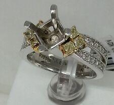 14k gold sami maunting 0.40ct yellow diamonds for 2 -2.5 ct cnt.2 ton Italian s.