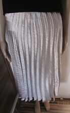 NWT STUNNING SILVER MATALIC CALF LENGTH PLEATED SKIRT SIZE 16