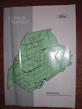 Prospekt Sales Brochure Ford Taunus Transit Campingwagen Wohnmobil Camping 1960