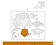 Lexus TOYOTA OEM 06-08 RX400h-Blower Motor 8710348040