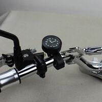 """Universal 7/8"""" 1"""" Motorrad Fahrrad Lenker Mount Uhr Uhren Watch Wasserdicht Neu"""