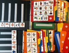LOT 230+ BILINGUAL CARDS PECS FRENCH SPEECH 2 BOOKS AUTISM PERSONALIZED THERAPY