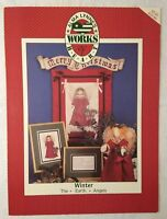Alma Lynne's WINTER THE EARTH ANGELS Counted Cross Stitch & Doll Pattern