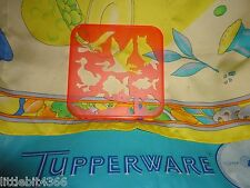 VINTAGE 1987 TUPPERWARE ORANGE TUPPER TOYS ANIMALS / FISH / BIRDS STENCIL # 1943