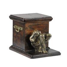 Staffy, dog urn made of cold cast bronze, ArtDog, UK - kind2