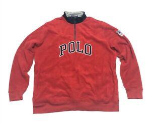 Men's Polo Ralph Lauren Fleece Pullover 1/4-Zip Jacket 2XLT Big And Tall NWT